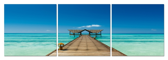 Azure Tropics Mounted Photography Print Triptych affordable modern furniture in Chicago, Azure Tropics Mounted Photography Print Triptych, Wall Art Chicago