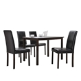 Baxton Studio Andrew 5-Piece Modern Dining Set Affordable modern furniture in Chicago, Andrew 5-Piece Modern Dining Set, Dining Room Furniture Chicago