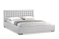 Baxton Studio Madison White Modern Bed with Upholstered Headboard - Queen Size affordable modern furniture in Chicago, bedroom furniture, Madison White Modern Bed with Upholstered Headboard - Queen Size