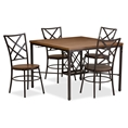 Baxton Studio Vintner Dining Set Affordable modern furniture in Chicago, Vintner Dining Set, Dining Room Furniture Chicago