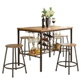 Baxton Studio Vintner Pub Set Affordable modern furniture in Chicago, Vintner Pub Set, Dining Room Furniture Chicago