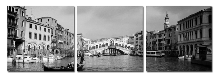 Rialto Bridge Mounted Photography Print Triptych affordable modern furniture in Chicago, Rialto Bridge Mounted Photography Print Triptych, Wall Art Chicago