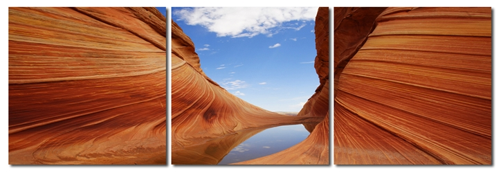 Baxton Studio Desert Sandstone Mounted Photography Print Triptych affordable modern furniture in Chicago, Baxton Studio Desert Sandstone Mounted Photography Print Triptych,  Decorating  Chicago