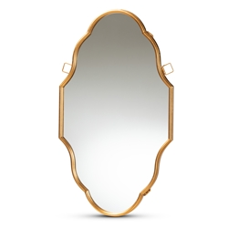 Baxton Studio Dennis Vintage Antique Gold Finished Accent Wall Mirror Affordable modern furniture in Chicago, classic bedroom furniture, modern mirror, cheap mirror