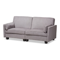 Baxton Studio Felicity Modern and Contemporary Light Gray Fabric Upholstered Sleeper Sofa Affordable modern furniture in Chicago, classic living room furniture, modern sofa, cheap sleeper sofas