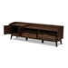 Baxton Studio Lena Mid-Century Modern Walnut Brown Finished 2-Drawer Wood TV Stand - BSOLV4TV4130WI-Columbia-TV