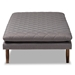 Baxton Studio Marit Mid-Century Modern Grey Fabric Upholstered Walnut Finished Wood Daybed - BSOBBT6812-Grey/Walnut-Daybed