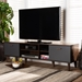 Baxton Studio Moina Mid-Century Modern Two-Tone Walnut Brown and Grey Finished Wood TV Stand - BSOSE TV90810WI-Columbia/Dark Grey-TV Stand