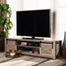 Baxton Studio Bruna Modern and Contemporary Farmhouse White-Washed Oak Finished TV Stand - BSOET 4015-ZZ2-TV Stand