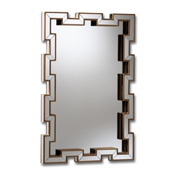 Baxton Studio Tanis Modern and Contemporary Glam Bronze Finished Rectangular Accent Wall Mirror Affordable modern furniture in Chicago, classic bedroom furniture, modern mirror, cheap mirror