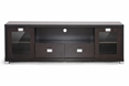 Baxton Studio Gosford Brown Wood Modern TV Stand affordable modern furniture in Chicago, Living Room Furniture, Gosford Brown Wood Modern TV Stand
