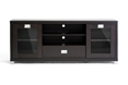 Baxton Studio Matlock Modern TV Stand with Glass Doors affordable modern furniture in Chicago, Matlock Modern TV Stand with Glass Doors , Living Room Furniture Chicago