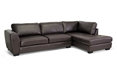 Baxton Studio Orland Brown Leather Modern Sectional Sofa Set with Right Facing Chaise affordable modern furniture in Chicago, Baxton Studio Orland Brown Leather Modern Sectional Sofa Set with Right Facing Chaise,  Living Room Furniture  Chicago