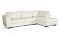 Baxton Studio Orland White Leather Modern Sectional Sofa Set with Right Facing Chaise affordable modern furniture in Chicago, Baxton Studio Orland White Leather Modern Sectional Sofa Set with Right Facing Chaise,  Living Room Furniture  Chicago