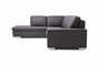 Baxton Studio Callidora Brown Leather Sectional Sofa with Left Facing Chaise - BSO766-sofa/lying-M9805-Reverse