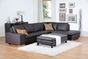 Baxton Studio Callidora Brown Leather Sectional Sofa with Right Facing Chaise - BSO766-sofa/lying-M9805